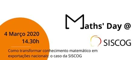 Maths' day @ SISCOG, March 4th